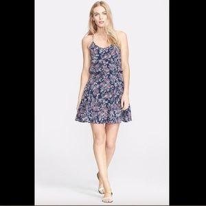 NWT $398 Joie 'Nanon' Print Silk Blouson Dress